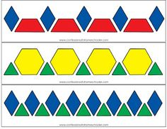 Pattern Block Activity Printables | Confessions of a Homeschooler