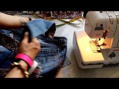Tutorial Re-Fashion backpack Jeans DIY: Creare uno zaino da un jeans ♠ Cómo crear un mochila en dril - YouTube