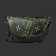 Purchase your next Black messenger bag from Zazzle. Choose one of our great designs and order your messenger bag today! Designer Messenger Bags, Green Gifts, Green Pattern, Purses And Bags, Personalized Gifts, Satchel, Sew, Unique, Fabric Sewing