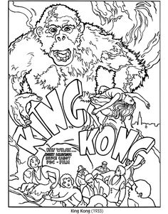 king kong color your own poster dover publications a full color picture is