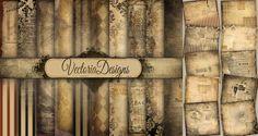 Shabby Chic Ephemera Papers by VectoriaDesigns.deviantart.com on @deviantART