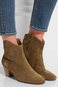 Isabel Marant|Étoile The Dicker suede ankle boots|NET-A-PORTER.COM