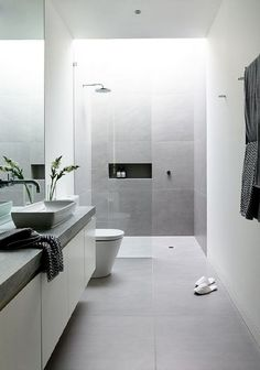 Luxury Bathroom Ideas is no question important for your home. Whether you choose the Small Bathroom Decorating Ideas or Luxury Bathroom Master Baths Rustic, you will create the best Luxury Bathroom Master Baths Walk In Shower for your own life. Bathroom Goals, Laundry In Bathroom, Bathroom Layout, Bathroom Grey, Bathroom Modern, Modern Sink, Light Grey Bathrooms, Bathroom Plants, Contemporary Bathrooms