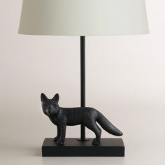 Metal Fox Accent Lamp Base -- paint the fox gold and the rod to match the shade so it doesn't come out of the middle of the fox. $24.99