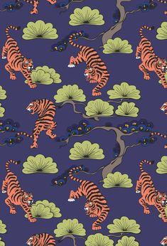 Fruit Illustration, Japanese Illustration, Pattern Illustration, Korean Art, Asian Art, Korean Painting, Art Nouveau Pattern, Japanese Artwork, Painting Patterns