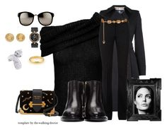 """""""Set #1712 - Ready for Cooler Weather"""" by the-walking-doctor ❤ liked on Polyvore featuring Aquascutum, Roland Mouret, Victoria Beckham, Nicholas Kirkwood, Prada, Chanel, Linda Farrow, Versace and Cartier"""