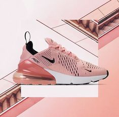 Update your sneaker style with this Nike Air Max 270 Women's Shoe in pink. One of the most popular Nike sneakers of Tenis Nike Casual, Tenis Nike Air Max, Grey Nikes, Pink Nikes, Tennis Shoes Outfit, Casual Shoes, Dress Shoes, Nike Roses, Running Shoes