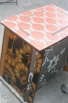 Rare Florence Broadhurst Zaishu stools...wallpaper then varnish
