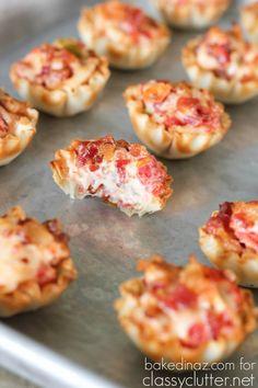 Bouchées de tomates et bacon dans une pâte phyllo - Recettes - Recettes simples et géniales! - Ma Fourchette - Délicieuses recettes de cuisine, astuces culinaires et plus encore!