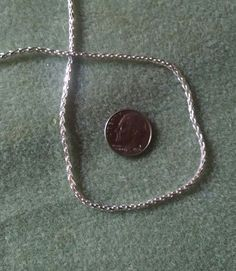 Sterling Silver Diamond Cut Wheat Chain Necklace