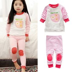 >> Click to Buy << Toddler Baby Kids Fruit Print Long Sleeve Tops+Pants Sets Homewear Sleepwear New #Affiliate
