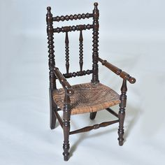 "Charming English 19th century Turned Childs Chair with original seat Width: 13"" / 33 cm Depth:13"" / 33 cm Height: 26"" / 66 cm"