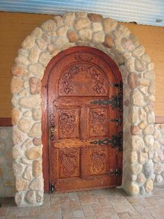 Summerhill winery door. Love the door, but not so much the stone.