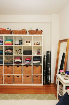 "More open ""closet"" ideas.  Not sure if the size of this would be too overwhelming but would work well to store a variety of items."
