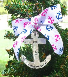 Delta Gamma Ornament  Pewter Anchor Ornament Big by TomisTreasures, $45.00