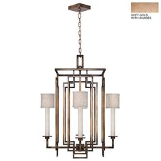 """Cienfuegos 4-Light Candle-Style Chandelier Finish: Soft Gold, Shade Included: Yes, Size: 30.5"""" H x 24"""" W x 24"""" D - http://chandelierspot.com/cienfuegos-4light-candlestyle-chandelier-finish-soft-gold-shade-included-yes-size-305-h-x-24-w-x-24-d-763450449/"""
