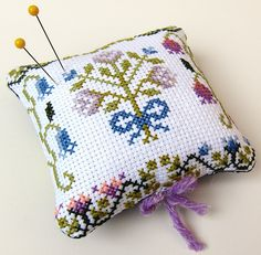 cross stitch Pin Cushion