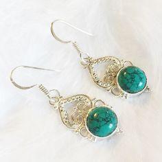 Harper - Sterling Silver Stone Earrings – Druzy Dreams
