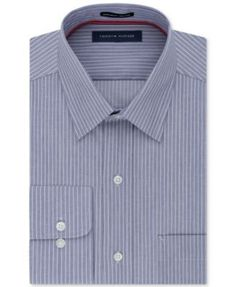 TOMMY HILFIGER Tommy Hilfiger Men'S Classic Fit Non-Iron Stripe Dress Shirt. #tommyhilfiger #cloth # dress shirts