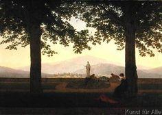 Caspar David Friedrich - Garden Terrace, 1811