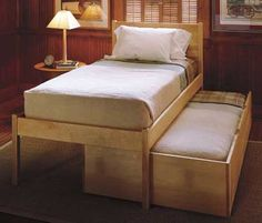 Pompy Trundle Platform. From Pompanoosuc Mills. American hardwood furniture. Hand crafted in Vermont.