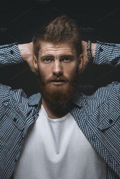 Brutal bearded man by Usmanov Stock Photography on @creativemarket