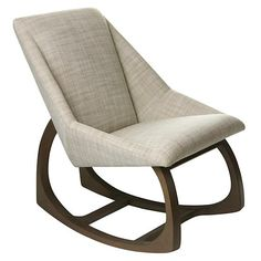 Springwood Rocking Chair in Rocking Chairs & Gliders | The Land of Nod option for near crib - pricey but fits the space better and is really gorgeous