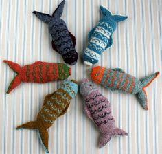 Instant Download PDF Fair Isle Fish Knitting Pattern. £2.50, via Etsy.