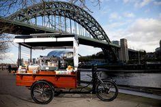The Coffee Cart. An eco-friendly solar powered coffee trike by Coffee Latino.