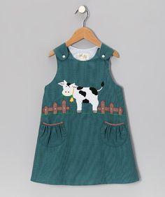 Teal Cow Jumper - Toddler