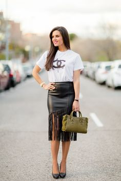 Falda de flecos | Crímenes de la Moda en stylelovely.com