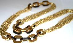 Dress up for the tonight's party --> Michael Kors LONG Necklace GOLD & Tortoise Multi Chain Links GLITZ MKJ3085 #MichaelKors #Chain $129.77