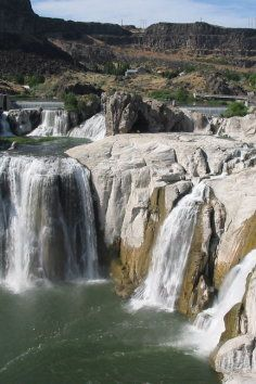 Shoshone Falls, one of the most spectacular natural beauties is in Twin Falls, Idaho.