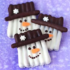 This winter, get crafty in the kitchen by making some sweet and salty snowmen pretzels. Each Chocolate Pretzel Snowman Craft couldn't be cuter with their...