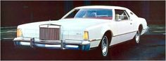 1975 Continental Mark IV with Lipstick and White Luxury Group