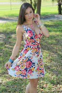 X-POSE Fashion - Floral Print Dress in Off White, $46.00 (http://www.xposefashion.com/products/floral-print-dress-in-off-white.html)