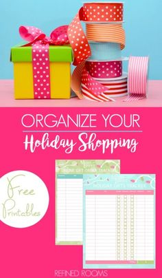 Reduce stress this season when you organize your holiday shopping with these tips (& free printables) from Refined Rooms