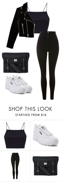 """Outfit"" by elzikaa on Polyvore featuring Fila, Topshop, Sandqvist and The Kooples"