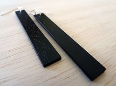 Ebony Wood Earrings by fivetwentyone