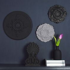 Wall Rosettes- Black - available from MiaFleur