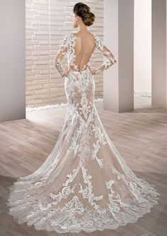 Featured Dress: Demetrios; Wedding dress idea.