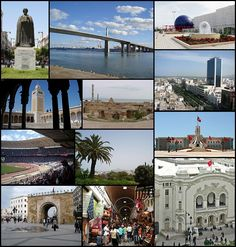 Tunis - WikiWand op left: Ibn Khaldoun Statue in Habib Bourguiba Avenue, Top middle: Rades La Goulette Bridge, Top right: Tunisia Planetarium Observatories and Science Centers, 2nd left: Al-Zaytuna Mosque, 2nd middle: Tunis Cartage, 2nd right: View of Habib Bourguiba Avenue, 3rd left: Rades Stadium, 3rd middle: View of Tunis and Belvedere Park, 3rd right: Hôtel de Ville Tunis, Bottom left: Bab El Bhar Gate, Bottom middle: Medina Alleys open-air market place, Bottom right: Tunis Municipal…