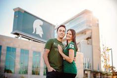 Fall MSU Engagement photography – Ashlee and Blake
