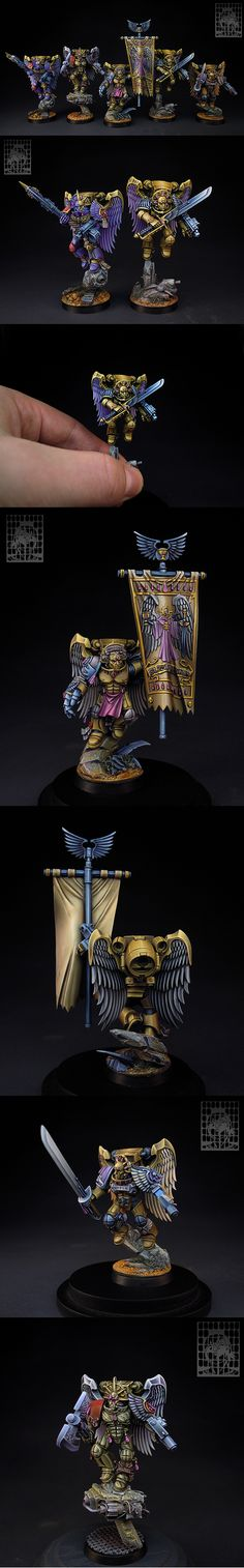 40k - Blood Angels Sanguinary Guard by We7