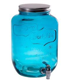 Blue Yorkshire Glass 2-Gal. Beverage Dispenser