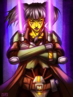 Kasumi Anuli - Jedi Knight by HausofDye.deviantart.com on @deviantART