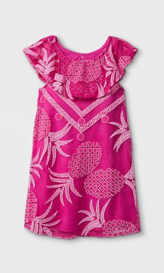 dae7dcaa7 Toddler Girls' Pineapple Print Mesh Dress - Genuine Kids® from OshKosh Pink
