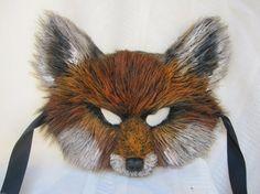 Red Fox Mask Woodland Fox Mask Fox Costume by MissMaryMask on Etsy