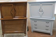 60's armoire refinished in light blue