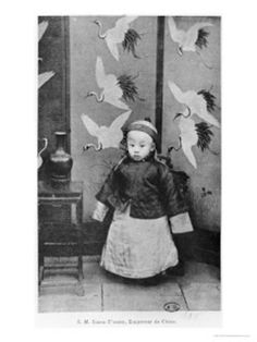 Pu Yi the last Emperor of China, as a child, picture published in 1911 (b/w photo), Chinese Photographer, (20th Century), Private Collection / Archives Charmet / The Bridgeman Art Library